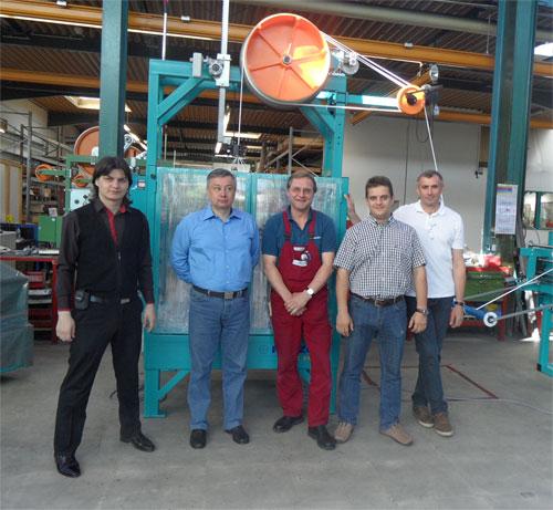 Приемка оборудования для производства трос-лидера в Германии